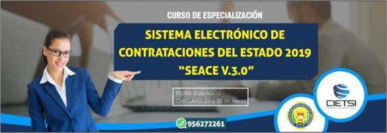Curso de especialización seace v 3.0 2019 (nuevo) en Piura