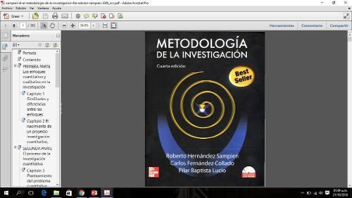 Libro Metodologia De La Investigacion - Sampieri