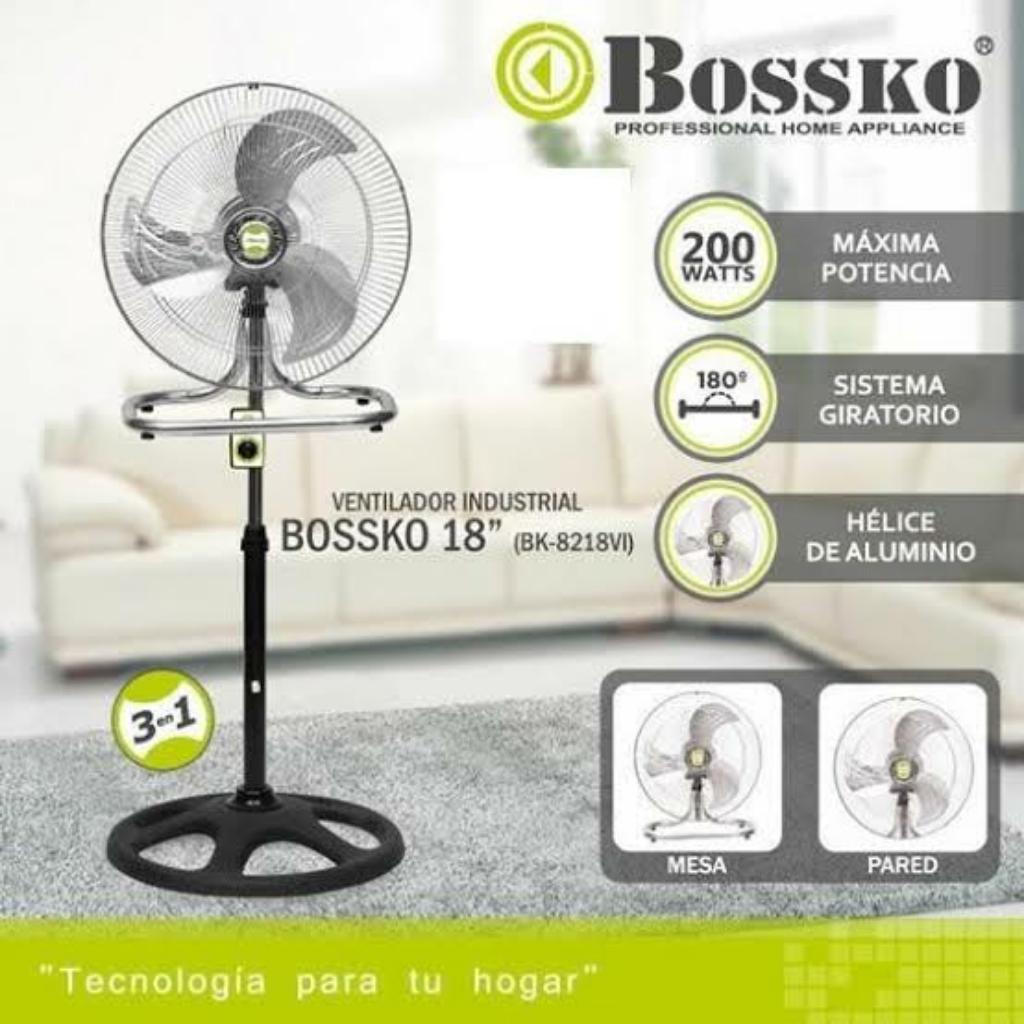 Ventilador 3 en 1 Marca Bossko 200 Watts