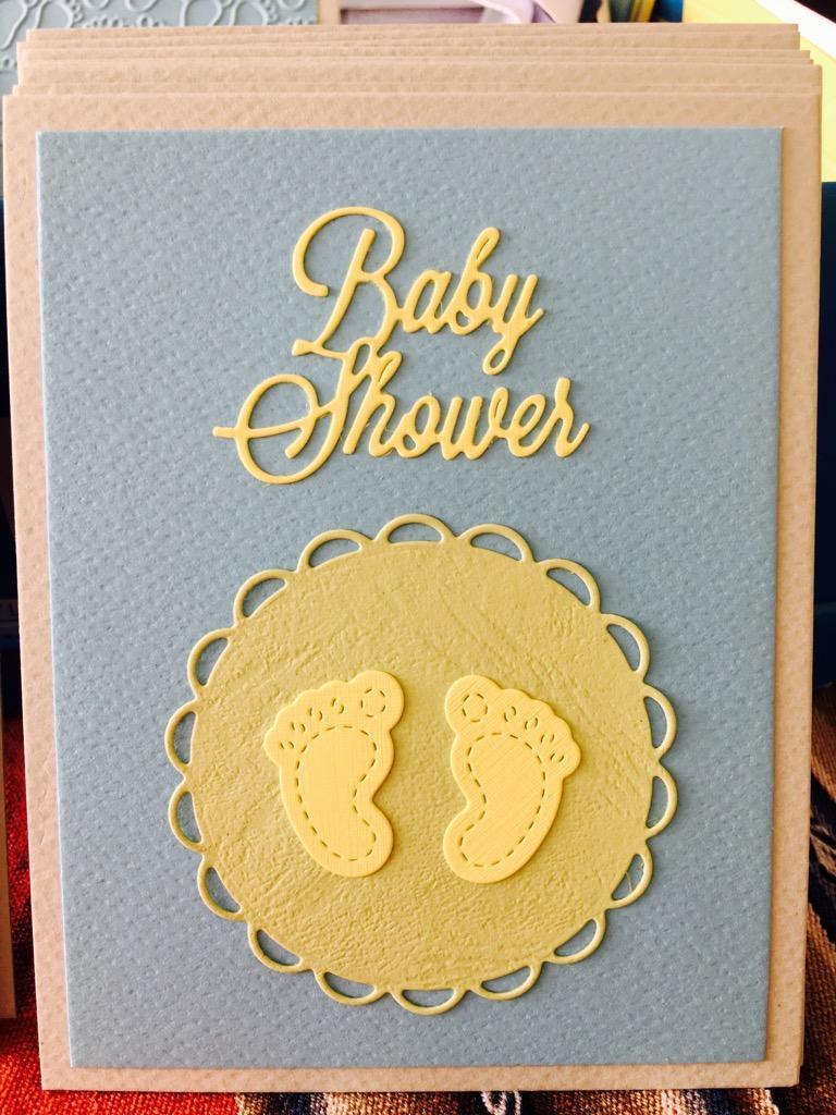 Se Hacen Tarjetas de Baby Shower hechas a mano