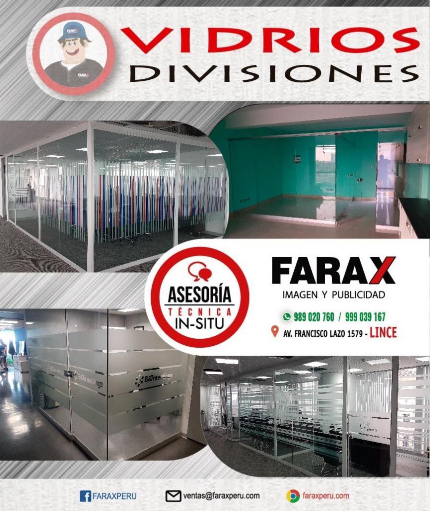 DIVISIONES DE VIDRIO, DRYWALL PARA OFICINA Y MOBILIARIO DE