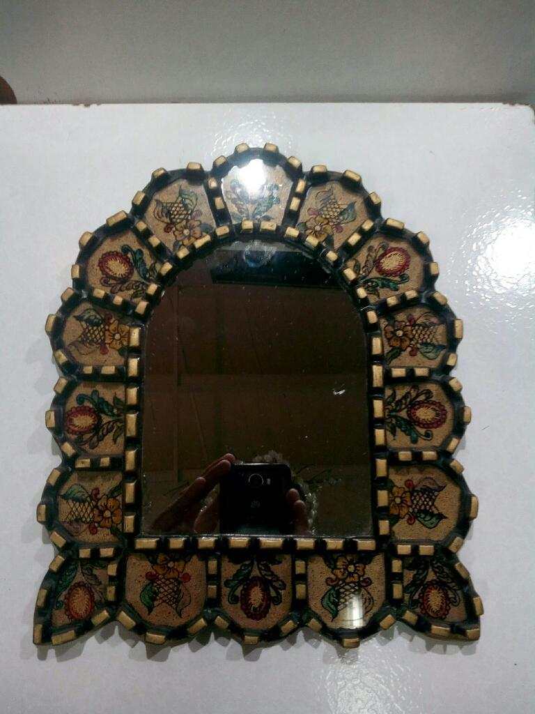Espejo Decorativo Pintado Mano Chico