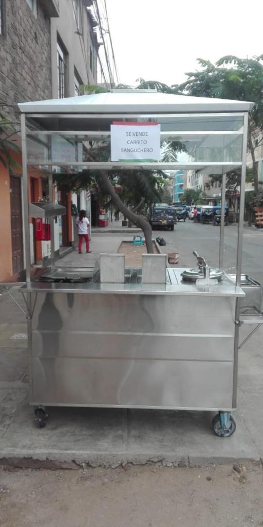 Se vende carrito sanguchero de acero inoxidable