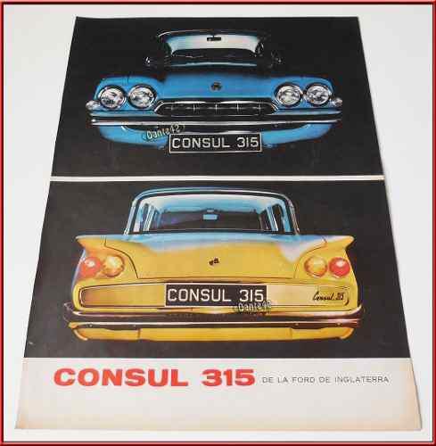 Dante42 Publicidad Antigua Retro Auto Ford Consul 1961