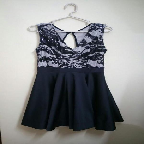Vestido Blue 7 Modelo Maggie De Luxe Negro