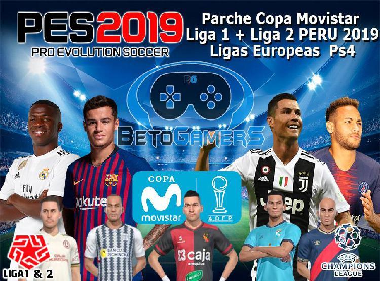 Parche Copa Movistar 2019 Liga 1 Y 2 Peru Pes2019 Ps