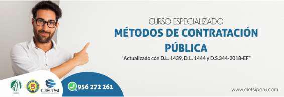 Curso especializado métodos de contratación pública 2019