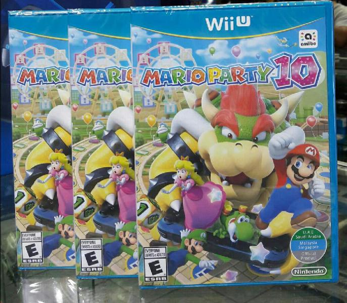 Mario Party 10 Wii U Nuevo Y Sellado Stock