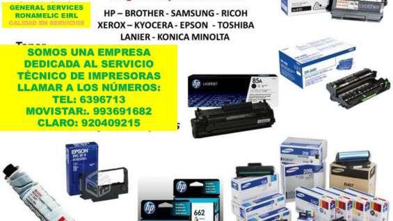 Servicio tecnico de impresoras y venta de repuestos a