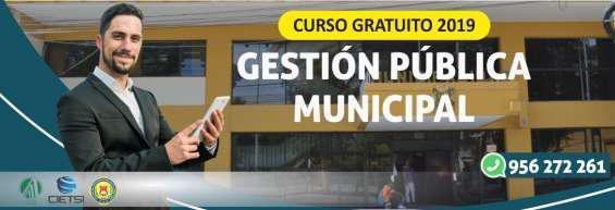 Curso gratuito gestión pública municipal 2019 (nuevo) en