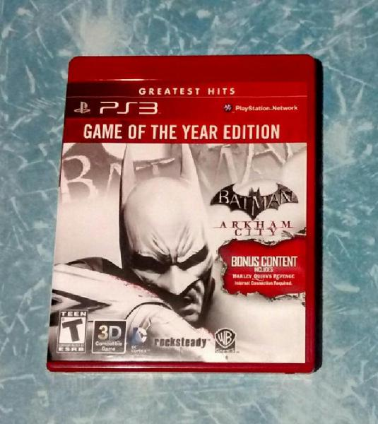 Ps3 BATMAN ARKHAM CITY GOTY GAME OF THE YEAR EDITION
