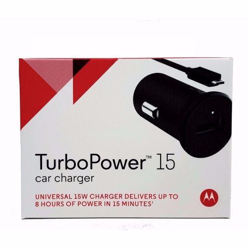 Cargador Auto Motorola Turbo Power 15 Carga Rápida Qualcomm