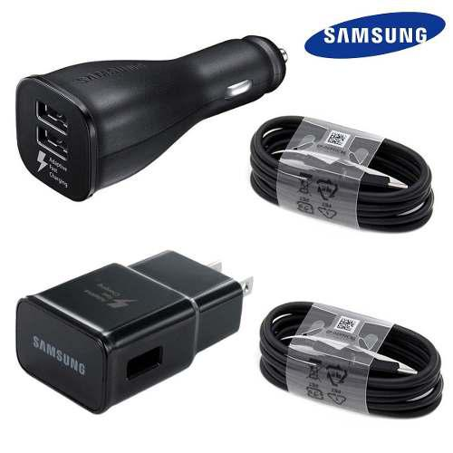 Pack Cargador Carro Auto Pared Samsung Galaxy S8 S9 Note8 N9