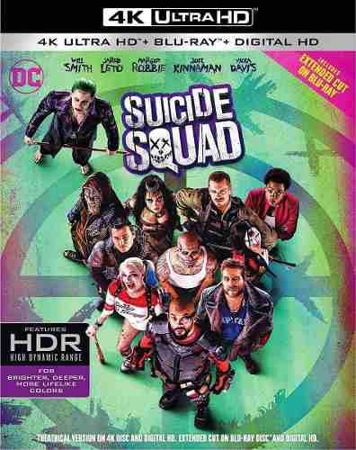 Blu Ray Escuadrón Suicida 2d - 4k - Stock - Nuevo - Sellado