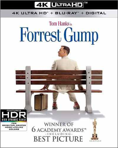 Blu Ray Forrest Gump 2d - 4k - Stock - Nuevo - Sellado