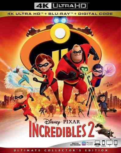 Blu Ray Los Increíbles 2 En 2d - 4k - Stock- Nuevo- Sellado