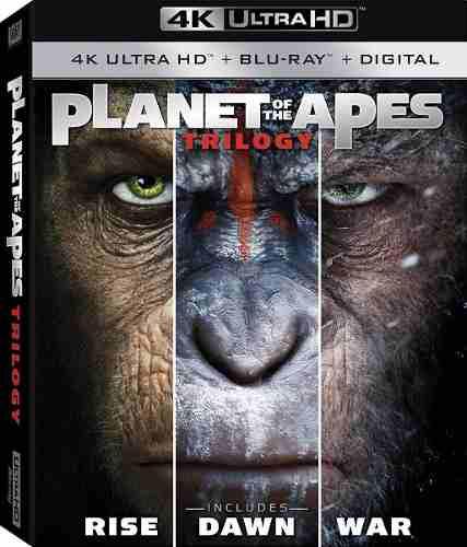 Blu Ray Planeta De Los Simios Trilogía 2d- 4k Stock- Nuevo