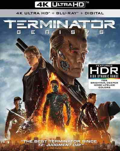 Blu Ray Terminator Génesis 2d - 4k - Stock - Nuevo -