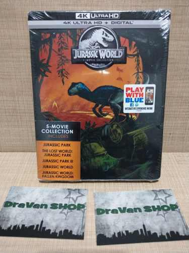 Jurassic World Steelbook 4k Blu Ray Pelicula Stock Coleccion