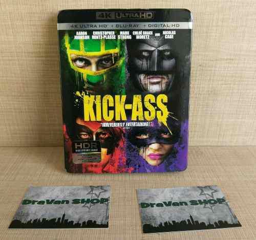 Kick Ass Película 4k Blu Ray Slipcover Stock