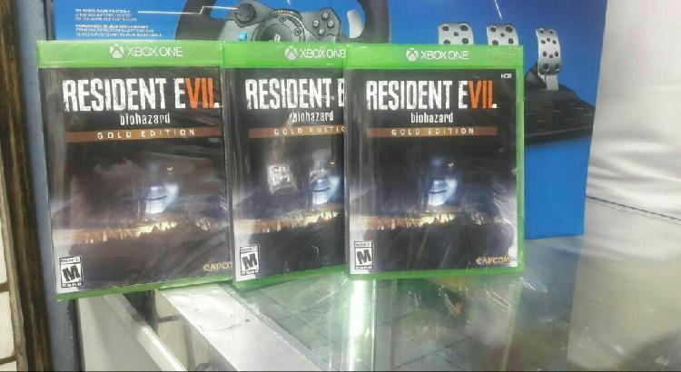 Resident Evil 7 Gold Edition Xbox One nuevo y sellado stock