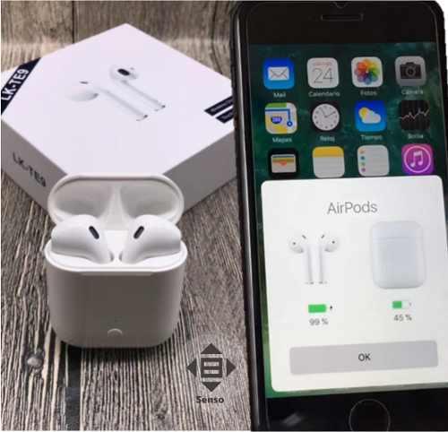 Audífono Bluetooth Airpods 2 Lk-te9 I13 Tws I12 Mejorado W1
