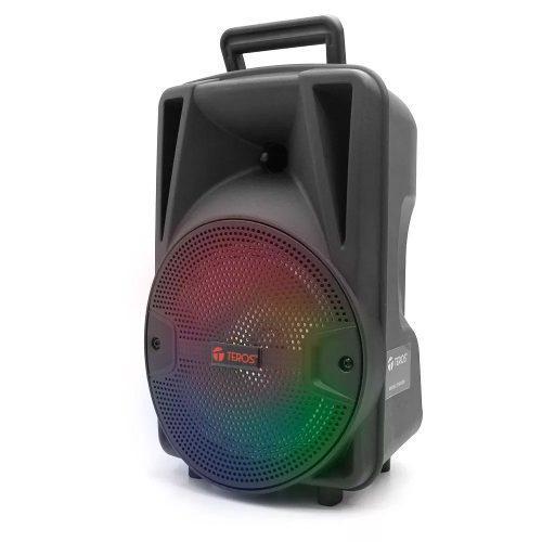 Parlante Teros Bluetooth, Fm, Karaoke, Microfono Inalambrico