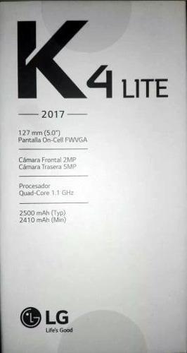 Lg K4 Lite 2017 Nuevo Sellado En Caja