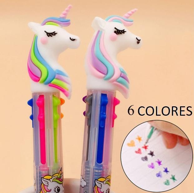 Lapiceros de Unicornio con 6 Colores