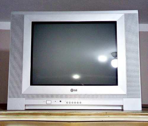 Televisor Lg Flatron Modelo Rp-21fe65 Full Color 21 Plomo