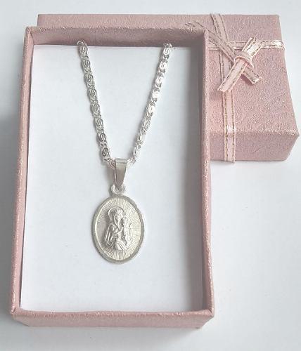 Hermosa Medalla Unisex Nuestra Señora Del Carmen - Plata