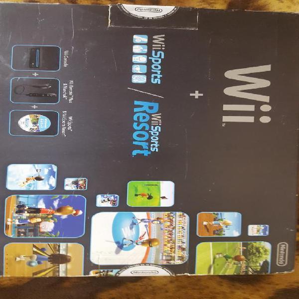 Nintendo Wii en Caja 2 Controles Juegos