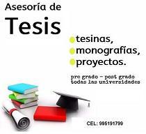 Asesoría en desarrollo de tesis de ing,sistemas en Lima