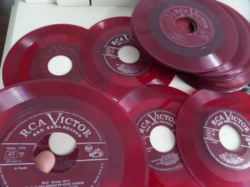 Disco De Vinilo Color Rojo Para Decoracion O Coleccion