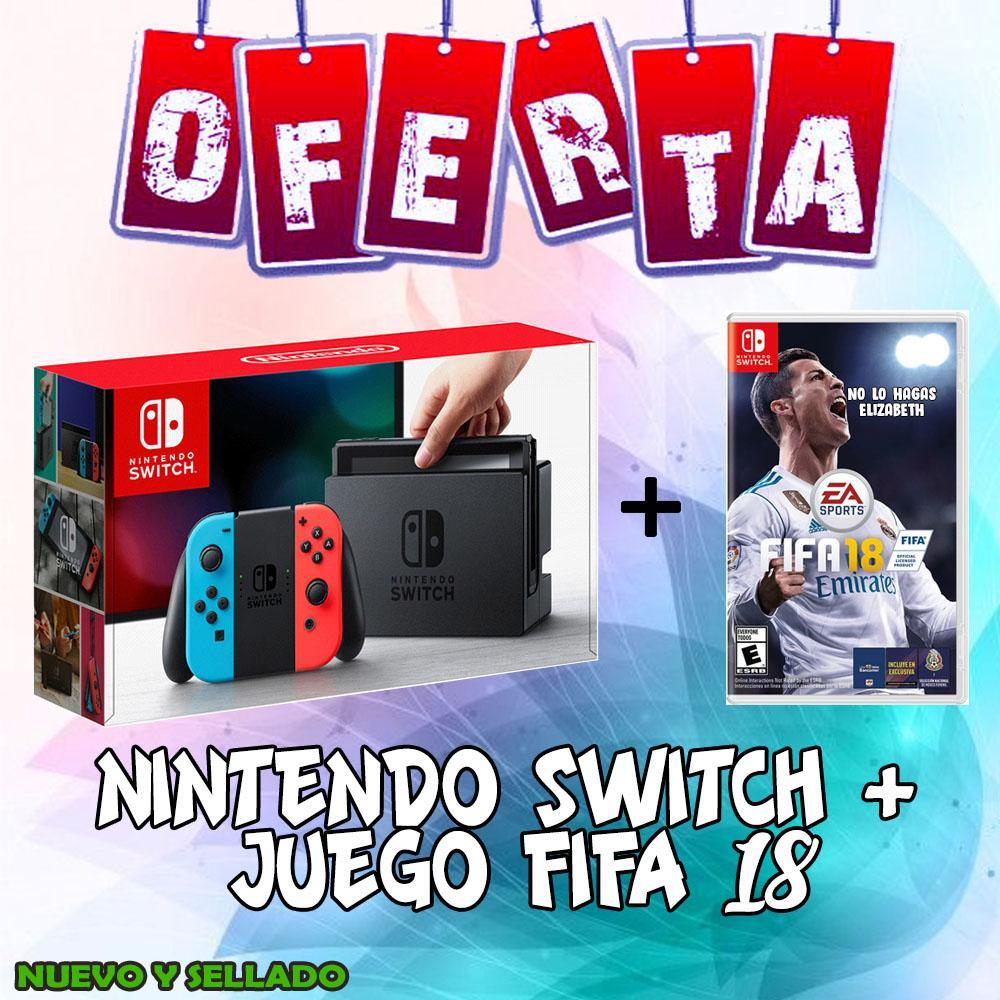 Nintendo Switch con Fifa 18 Nuevo y Sellado