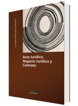 Libro Acto Jurídico Negocio Jurídico Y Contrato Lizardo