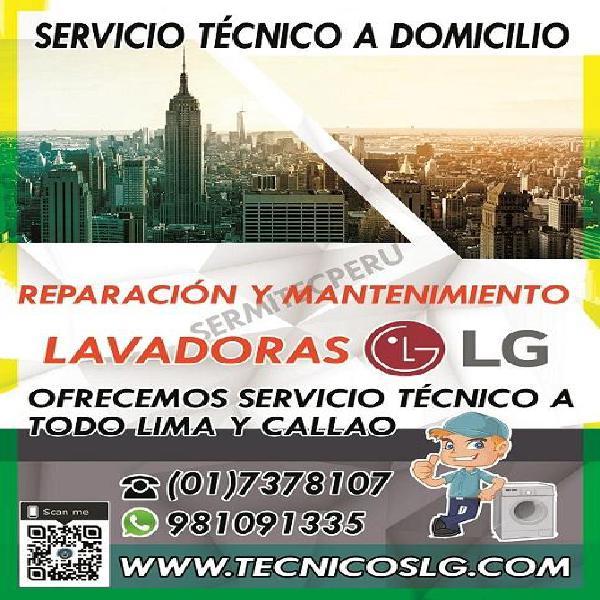 Servicio tecnico Lavadoras y Secadoras LG a domicilio