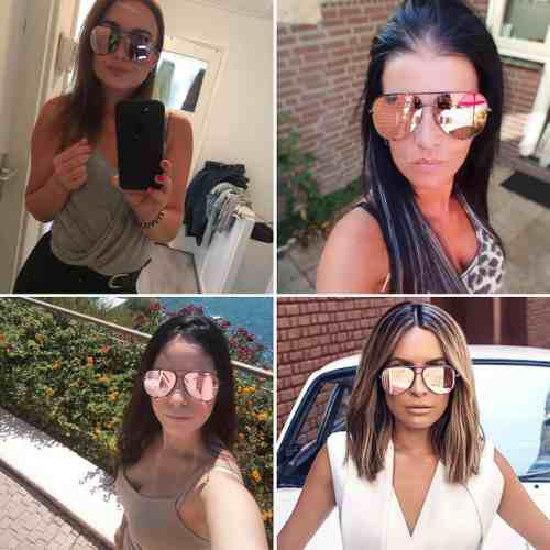Gafas De Sol Para Mujer Espejo Uv400hd Polarizado Verano 19