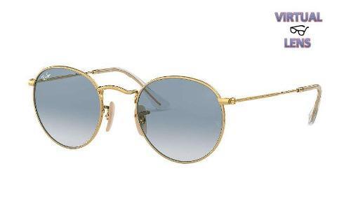1669e276c7 Lentes ray ban round dorados lenon originales con boleta