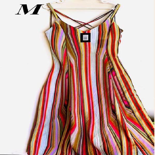 Mujer Vestido Maxi M Americano Nuevo