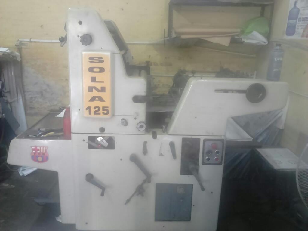 Maquina de Imprenta Solna 125