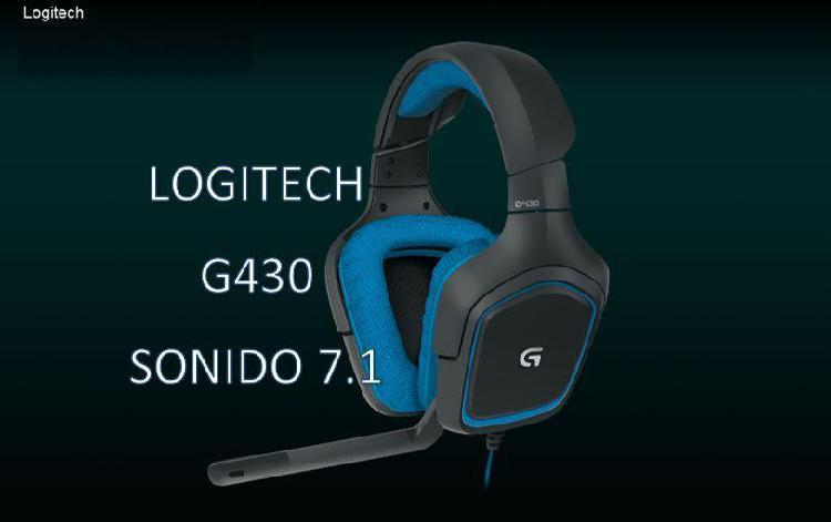 LOGITECH G430 Sonido 7.1 de Alta Calidad Headset Audifono