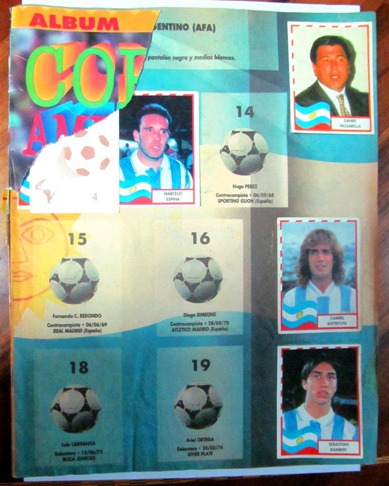 Álbum Incompleto de la Copa América . Editorial