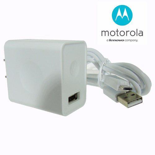 Cargador Motorola V8 Original 2a Moto G5 G4 Plus C - Blanco