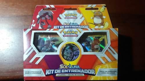 Pokemon Tgc Sol Y Luna, Kit De Entrenador Lycanroc Y Raichu
