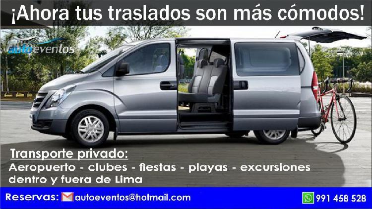 Transporte privado personas naturales o empresas