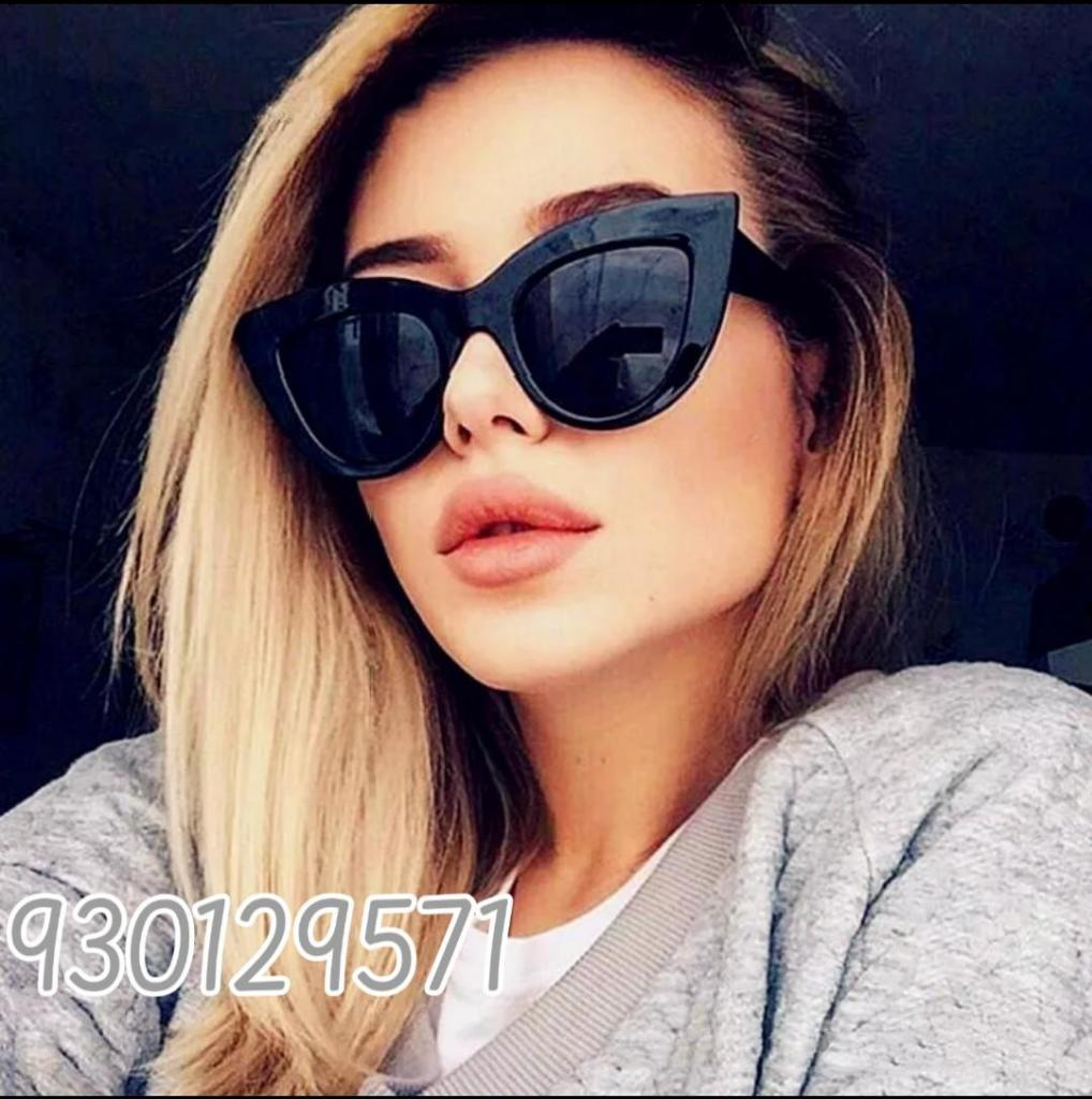 Lentes gafas de sol para mujer retro ojos de gato cat eye,