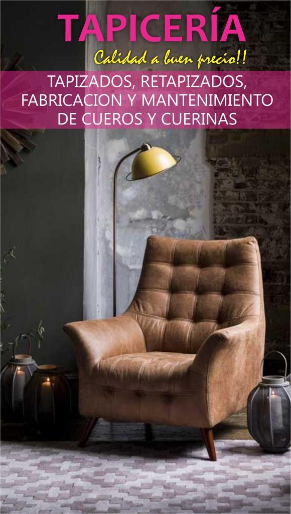 TAPICERIA DE MUEBLES Y SILLAS EN CUERO y CUERINA,