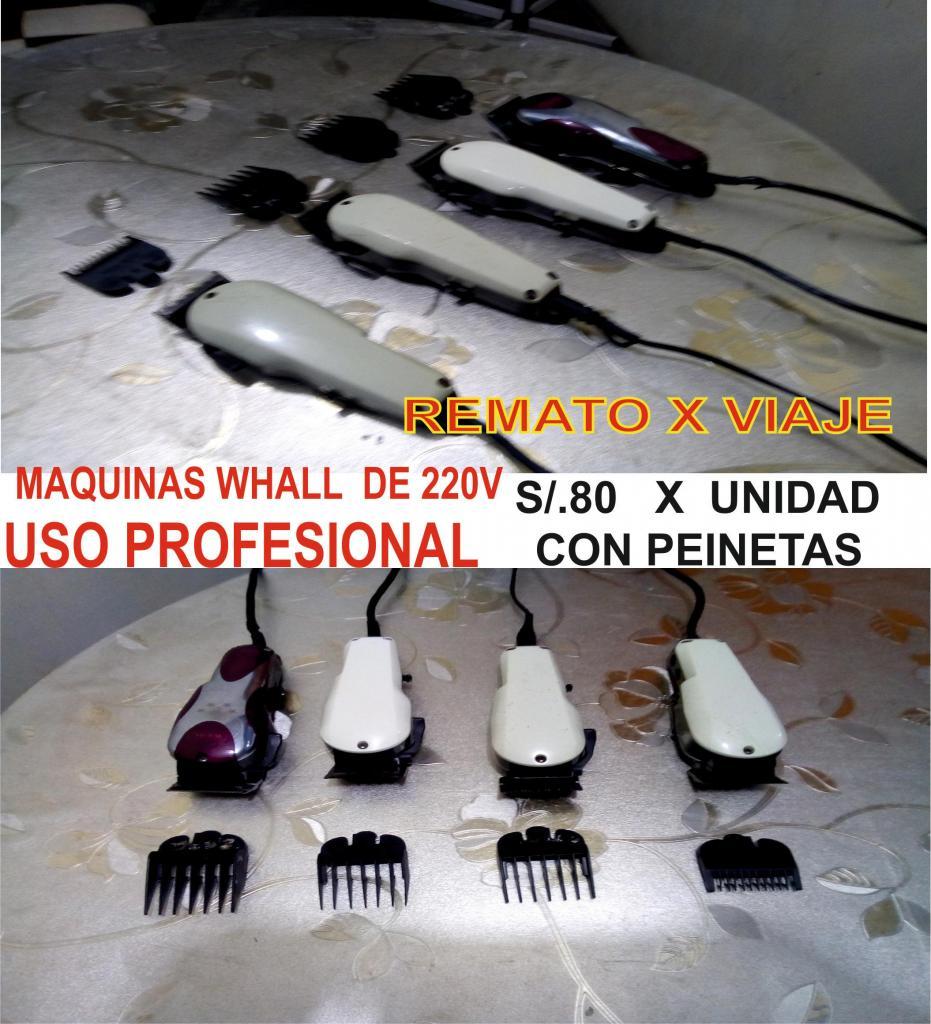 MAQUINAS WAHL MAGIC CLIP REMATO S/.80 PEINETAS INCLUIDAS USO