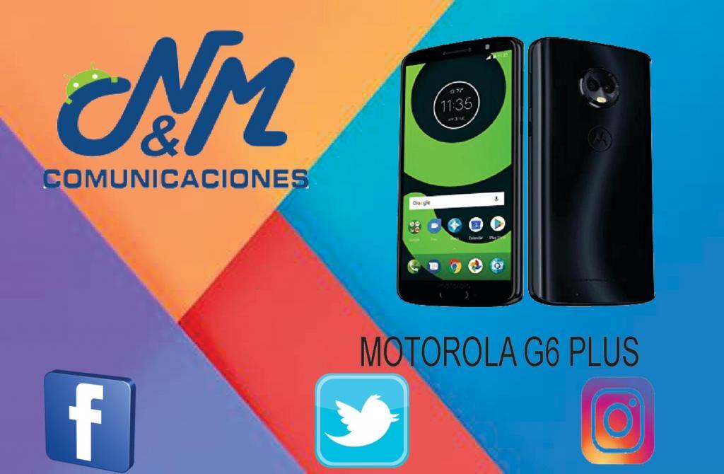 MOTOROLA MOTO G6 PLUS 4GB RAM 64GB CAM 12MP. SOMOS